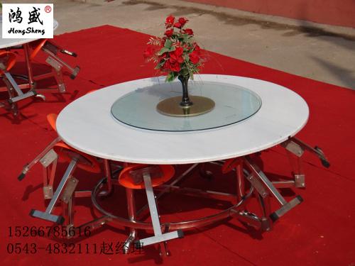 广东欧式餐桌椅折叠圆形